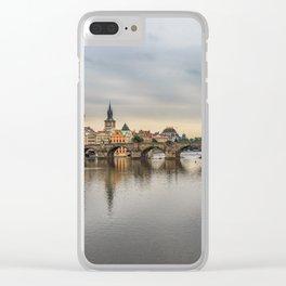 Charles Bridge, Prague, Czech Republic Clear iPhone Case