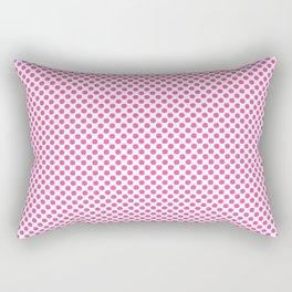 Brilliant Rose Polka Dots Rectangular Pillow