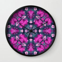 mandala 9 purple #mandala Wall Clock