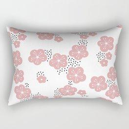 Hello spring Japanese cherry blossom love pink Rectangular Pillow