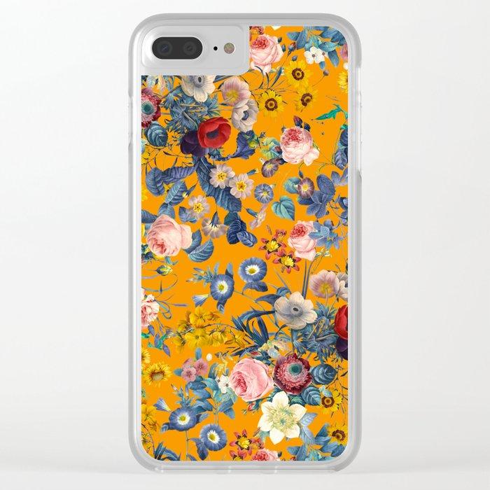 Summer Botanical Garden IX Clear iPhone Case