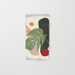 Abstract Monstera Leaf Hand & Bath Towel