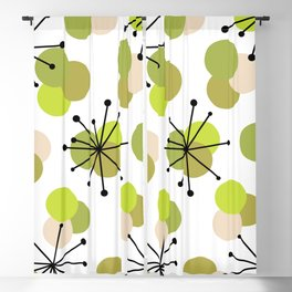 Atomic Age Molecules Starbursts Chartreuse Blackout Curtain