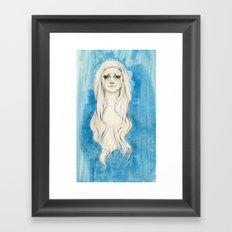 Long Hair Framed Art Print