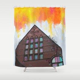 awkward building Shower Curtain