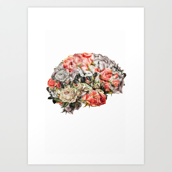 Flower Brain Art Print