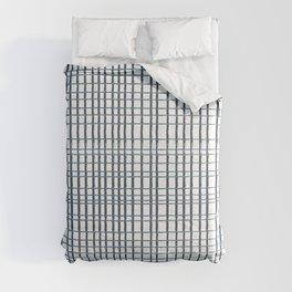 thin blue lines crosshatch Comforters