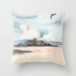Fort National de Saint-Malo Throw Pillow