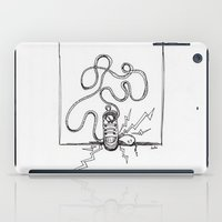 sneaker iPad Cases featuring Sneaker Snake by Leslie Buccino