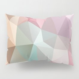 Abstract triangles polygonal pattern Pillow Sham