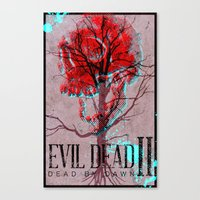 evil dead Canvas Prints featuring Evil Dead II by Savage Mind
