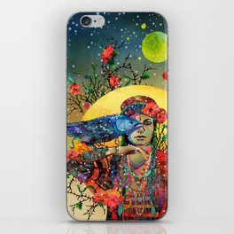 Witch and crow iPhone Skin