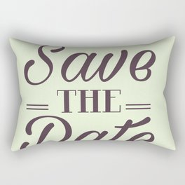 Save the Date Tropical Pineapple wedding invite Rectangular Pillow