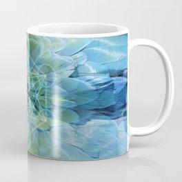 Metatrons Blue Parrot Feathers Coffee Mug