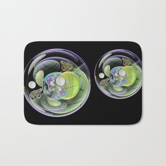 Froggies in a water bubble Bath Mat