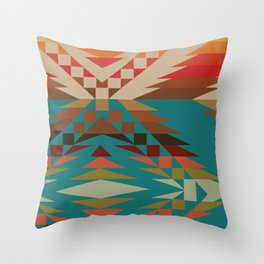 American Native Pattern No. 81 Throw Pillow