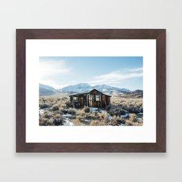 Lone Cabin Scene Framed Art Print