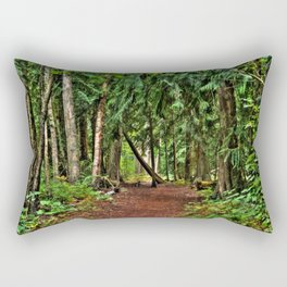 The Enchanted Way - Canadian Wilderness Forest Rectangular Pillow