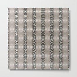 Brown Geometric Stripe Metal Print