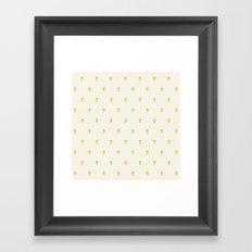 Pineapple Pattern Cross Stitch Framed Art Print