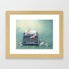 Ghost Writers Framed Art Print