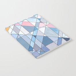 Triangle Pattern no.17 Light Blues Notebook