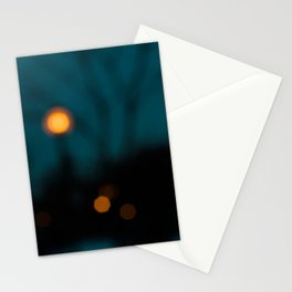 Blurry Night Stationery Cards