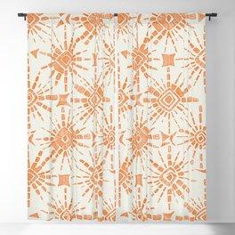 hachure shibori orange Blackout Curtain