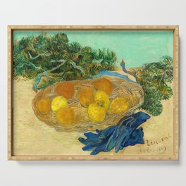 Van Gogh Still Life with Lemons and Oranges Serving Tray
