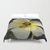 bee Duvet Covers featuring Bee by Lia Bernini