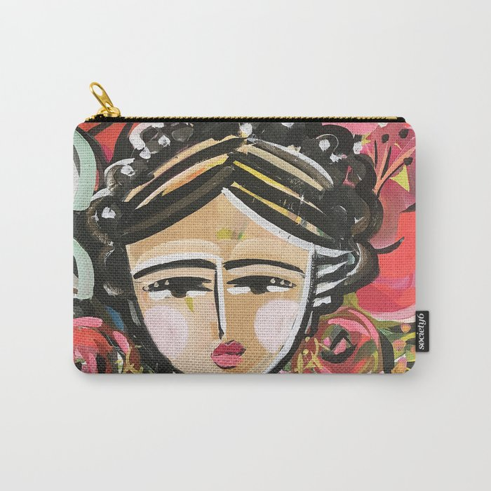 "Portrait ""Mexican Girl"" Face art Carry-All Pouch"