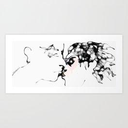 The Kiss (070413b) Art Print