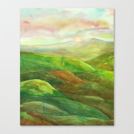 Lines in the mountains XVI Canvas Print