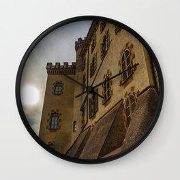 The medieval village of Barolo Wall Clock