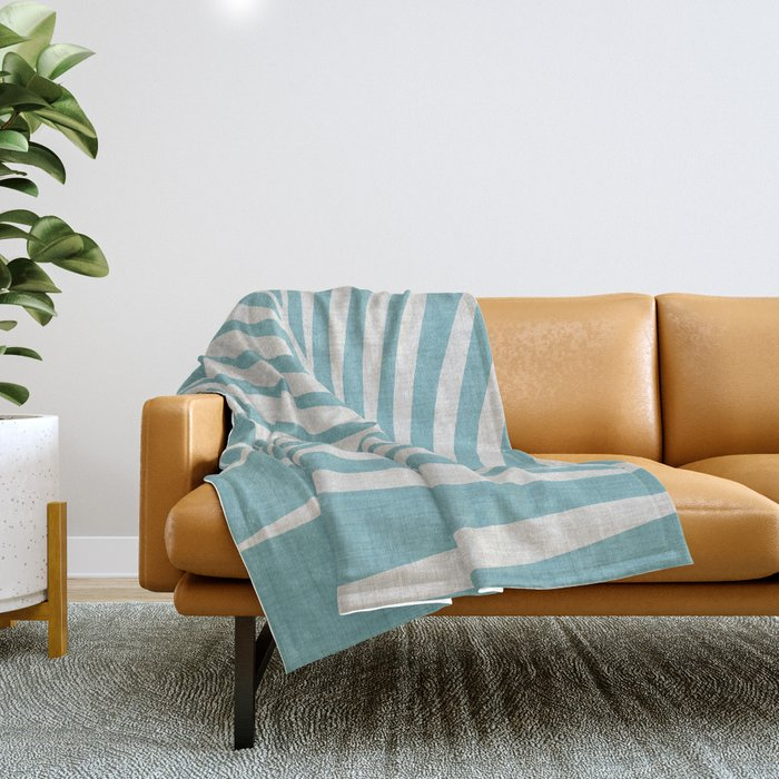 Vintage Palm Frond Throw Blanket