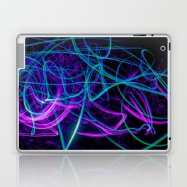 Abstract purple and blue light effect Laptop & iPad Skin