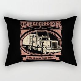 YOU ROCK WE ROLL Trucker Big Rig Truck Truck Rectangular Pillow