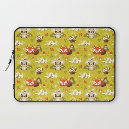 Sleeping Woodland Animals Laptop Sleeve