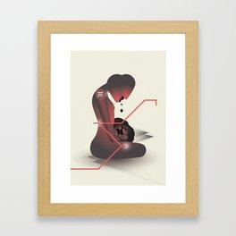 This (pain) will linger. Framed Art Print