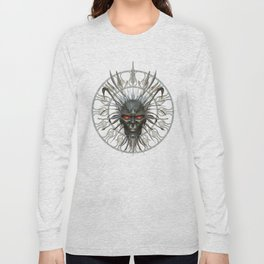 Face of the Demon King .. fantasy art Long Sleeve T-shirt