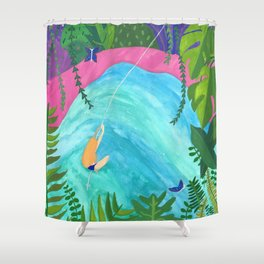 Tropical Pool Adventure Shower Curtain