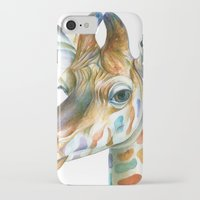 kindle iPhone & iPod Cases featuring Giraffe by Brandon Keehner