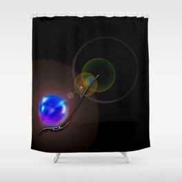 Light and energy - Minimalism Shower Curtain