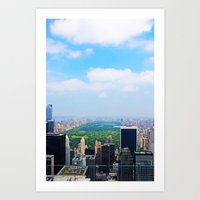 central park Art Prints featuring Central Park by NaturallyJess