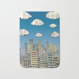 The city of paper clouds Bath Mat