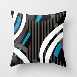 Wired Blue Throw Pillow