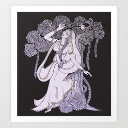 Radharani-Feel of devine love Art Print