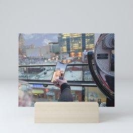 Artistic Selfie Downtown Mini Art Print
