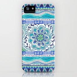 Boho Blue iPhone Case