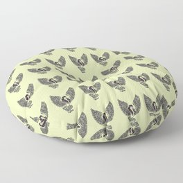 Ancient Harpy Mythical Mythology Color Pattern Floor Pillow
